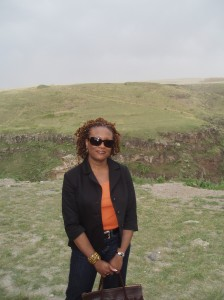 Here I am in my two-strand twists, visiting an archeological site in rural eastern Turkey near the Armenian border. My carefree hair made a culturally challenging trip way less stressful.