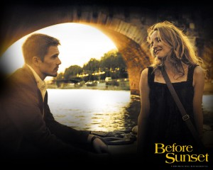 "Talk about a film celebrating ""romance on the road."" ""Before Sunset"" explores the reconnection of one-time lovers Jesse (an American) and Celine (a Parisian), nine years after their initial rendezvous in Vienna. This 2004 film might convince even skeptics about the possibility of finding true love on the other side of the world."