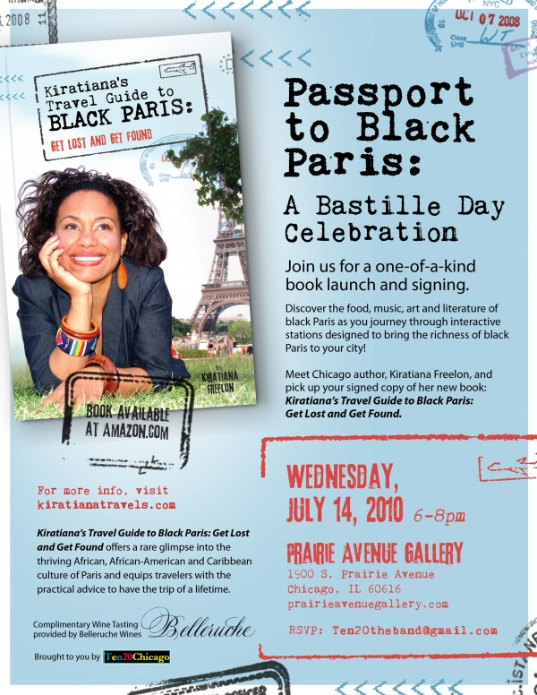 Hey, Chicago-area Francophiles -- don't miss Kiratiana Freelon's ode to France's Bastille Day-book launch celebration from 6-8 pm on Monday, July 14.