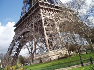 """I NEVER tire of seeing the amazing """"La Tour Eiffel."""" This photo always reminds me how important it is to view life from different angles -- and that's EXACTLY what I plan to do in France next year."""