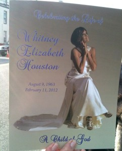 The program from the singing legend's Saturday funeral.
