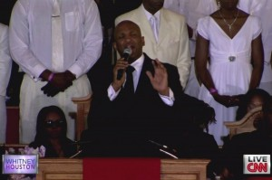 The award-winning Rev. Donnie McClurkin delivered a powerful version of &quot;Stand&quot; during Saturday's funeral ... and what a message to Whitney's family and friends.
