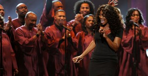 """Yolanda Adams """"had church"""" at Saturday night's 43rd NAACP Image Awards while singing """"I Love the Lord,"""" a song Whitney Houston performed during """"The Preacher's Wife."""""""