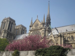 A view of the incomparable Notre Dame cathedral from that Bateaux Mouches boat ride down the Seine. Sometimes I STILL can't believe that I'm able to savor joys like this without first getting on a plane -- just a suburban Paris train!