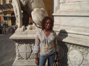 Ah, memories! Here I am, standing under the Tuscan sun during my living-in-Florence days.